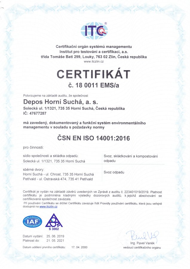 ČSN EN ISO 14001